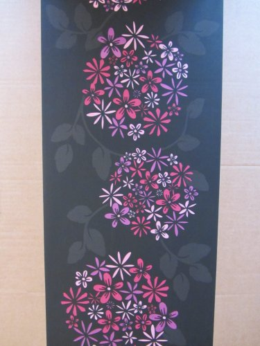 ALIUM FUCHSIA FEATURE WALL WALLPAPER BORDER PATTERN MODERN SELF ADHESIVE 62653 FREE SHIPPING