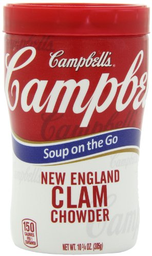 Campbell's New England Clam Chowder Soup on the Go, 10.75 Ounce Microwavable Cups (Pack of 8) at Sears.com