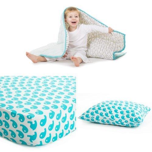 Baby Deedee Toddler Bedding Set, Dream Blue - 1