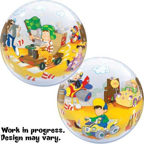 """22"""" El Chavo Neighborhood Race Bubble Balloon"""