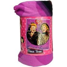 I Love Lucy With Ethel Fleece Blanket Throw