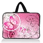 Pink Butterfly 9 10 10.1 10.2inch Laptop Netbook Carrying Sleeve Bag Case For 10.6 Microsoft Surface RT Windows Pro PC,10.1 10.2 Mini Netbook PC,Toshiba Blade AT200-101, Thrive AT100,Lenovo IBM ThinkPad SONY SAMSUNG,Google Android Nexus 10 Tablet PC,Thrive AT100,10.1 Acer Iconia W500 A500 Tablet PC,iPad Air iPad 2 3 4 5 5th Gen W/Cover,10.1 ASUS Eee Pad Transformer Prime TF201 TF701