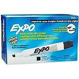 Expo Original Dry Erase Markers, Chisel Tip, 12-Pack, Black