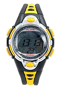 Aivtalk Kids Boys Watches Waterproof Chronograph Digital Sports Watch For Child With Time,Date,Week,Count Digit,Chime,El-Light - Yellow