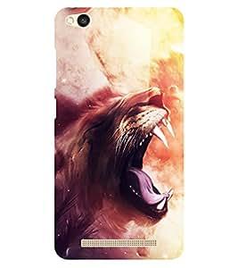 Chiraiyaa Designer Printed Premium Back Cover Case for Xiaomi Redmi 3S (Lion roar painting) (Multicolor)
