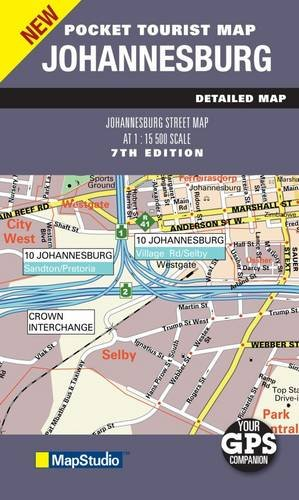 Johannesburg 2011 Pocket Map 1:15,500 MapStudio