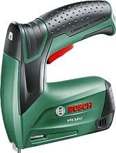 Bosch HomeSeries PTK 3,6 LI Akkutacker, 1000 Klammern, Ladegerät