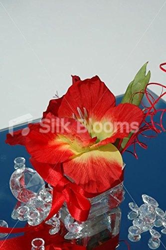 Superbe design moderne Rouge glaïeuls décoration de Table avec coutures rouges