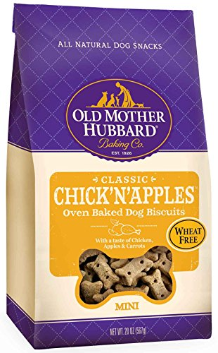Old Mother Hubbard Classic Crunchy Natural Dog Treats, Chick'N'Apples Mini Biscuits, 20-Ounce Bag