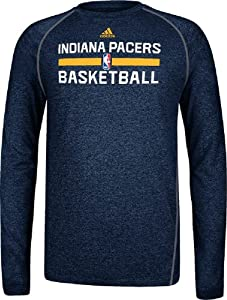 Indiana Pacers Heather Navy Climalite Practice Long Sleeve Shirt by Adidas by adidas
