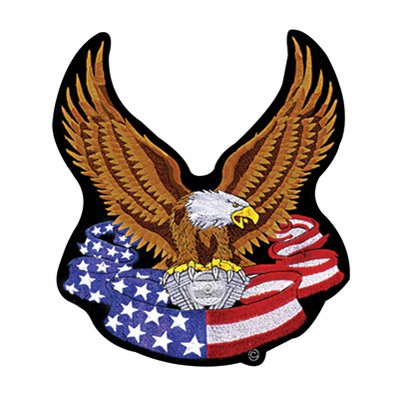 Hot Leathers Embroidered Patch - American V-Twin Eagle 3