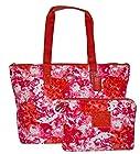 Coach Signature Nylon Packable Weekender Tote Bag Purse Handbag Pink Multi 31441