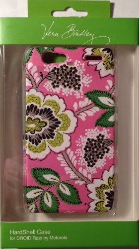 Vera Bradley Priscilla Pink Hardshell Snap-on Case Cover For Motorola Droid RAZR