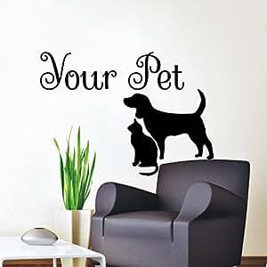 Amazon.com: Wall Decals Dog Cat Shop Your Pet Decal Vinyl