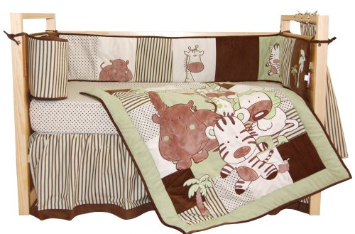 Tadpoles Jungle Spa Crib Set - 1
