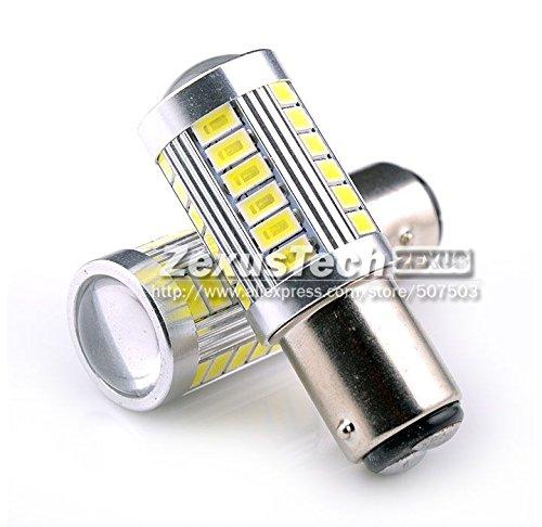 paxten (TM) 2 x S25 1157 BAY15D 33 SMD 5630 Blanc LED queue de frein de stationnement Tour Signal Ampoule Arrière tournant signal Lampe