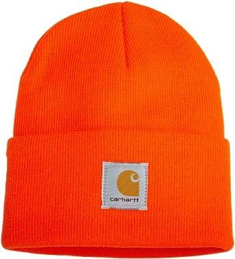 Carhartt Men's Acrylic Watch Hat,  Bright Orange,  One Size