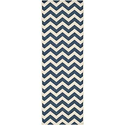 Safavieh Courtyard Collection CY6244-268 Navy and Beige Indoor/ Outdoor Runner, 2 feet 3 inches by 12 feet (2\'3\