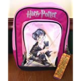 Harry Potter Hogwarts Pink Canvas Fabric Backpack