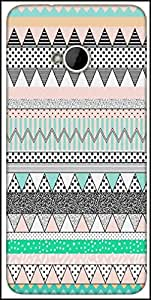 Snoogg Polka Wave Aztec Designer Protective Back Case Cover For HTC M7