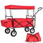 TecTake Foldable Pull Along Wagon Wit...