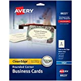 Avery Two-Side Printable Clean Edge Rounded Corner Business Cards for Inkjet Printers, Ivory, Pack of 160 (88221)