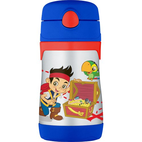 Thermos Jake & The Neverland Pirates Stainless Steel Straw Bottle- 10-Ounce front-825900