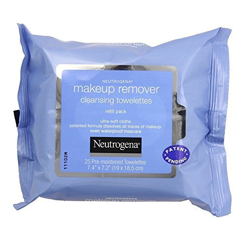 Neutrogena Make-Up Remover, Cleansing Towelettes, 25 towelettes, Pack of 1, Refill Pack
