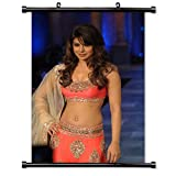 Priyanka Chopra Model Actress Fabric Wall Scroll Poster (32 x 48) Inches