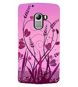 ColourCraft Love Heart Design Back Case Cover for LENOVO VIBE X3 LITE