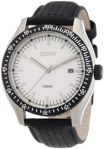 Esprit A.ES102871001 - Reloj analógico de cuarzo para hombre con correa de piel, color negro