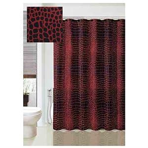 Amazon Com Nomad Black And Red Crocodile Pattern Fabric