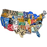 "Past Time Signs (PS044) 25"" x 16"" License Plate Map Die-Cut Steel Sign"