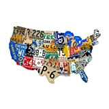 """Past Time Signs (PS044) 25"""" x 16"""" License Plate Map Die-Cut Steel Sign"""