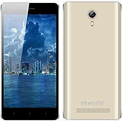 "4.5"" VKWORLD F1 IPS 3G Smartphone Android 5.1 MT6580M Quad Core 1.3GHz Cellulare Doppia SIM 1GB RAM + 8GB ROM WIFI GPS Intelligente Wake Oro"