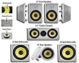 Acoustic Audio HD728 7.2 Home Theater Speaker System (White)