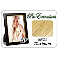 Pro Extensions 20 x 39 #613 Platinum Blonde 100% Clip on in Human Hair Extensions