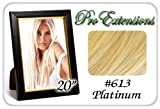 "Pro Extensions 20"" x 39"" #613 Platinum Blonde 100% Clip on in Human Hair Extensions"