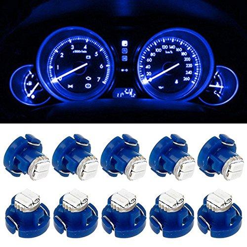 Partsam 10x Blue T3 Neo Wedge SMD LED Light Auto Car Center Console HVAC Climate Bulbs (2001 Honda Odyssey Center Console compare prices)