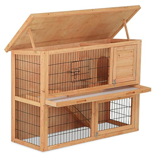 Yaheetech-48-inch-Rabbit-Bunny-Wood-House-Hutch-with-Tray-Natural-Color
