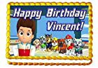 Paw Patrol Featuring Everest! 1/4 Sheet Edible Photo Birthday Cake Topper. ~ Personalized!