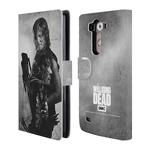 Official AMC The Walking Dead Daryl Double Exposure Leather Book Wallet Case Cover For LG G3 S / G3 Beat / G3 Vigor (Lg G3 Phone Case Walking Dead compare prices)