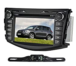 See Pumpkin 7 Inch In Dash HD Touch Screen Car DVD Player FM/AM Radio Stereo Navigation For Toyota Rav4 2006-2011 with free reverse backup rear view reversing camera as gift Details