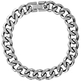 Men's Stainless Steel Chain Bracelet, 9''