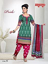 Anand Prints Women's Cotton Unstitched Dress Material (Dno111_MultiColored)
