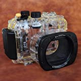 MegaGear 130ft 40m Underwater Waterproof case Housing with Floating Wrist Strap for Canon PowerShot G15 WP-DC48