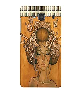 Fuson Dressed up Girl Back Case Cover for XIAOMI REDMI 2 - D3913