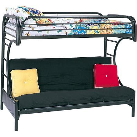 ACME Eclipse Twin/Full/Futon Bunk Bed, Black (Twin Over Full Futon compare prices)