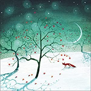 Charity Christmas Cards (ALM1188) In Aid Of The National Autistic Society - Fox In The Snow - Pack Of 8 Cards