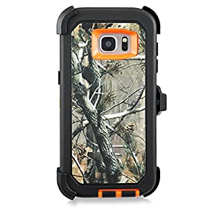 Galaxy S7 Edge Case,Samsung Galaxy S7 Edge Case,Kuool Heavy Duty Rugged Scratch Resistant Shockproof Max Protective with Belt Clip & Built-in Screen Protector Case for Galaxy S7 Edge(Xtra Orange) by Anzebra